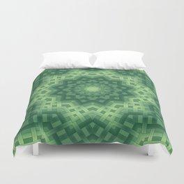Green basket weave Duvet Cover