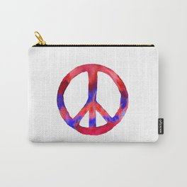 Patriotic Peace Sign Tie Dye Watercolor Carry-All Pouch
