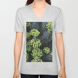 Chartreuse flowers Unisex V-Neck