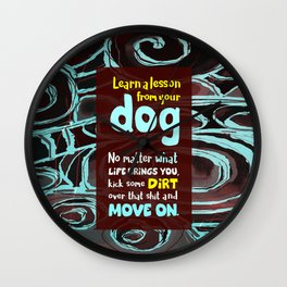 Learn a Lesson From Your Dog Wall Clock