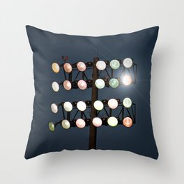Beneath Friday Night Lights Throw Pillow