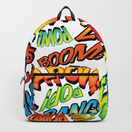 Comic Book Sounds Backpack