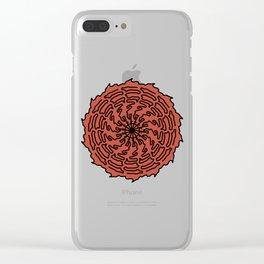 espiral rojo Clear iPhone Case