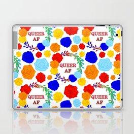 QUEER AF - A Rainbow Floral Pattern Laptop & iPad Skin
