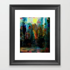A moment in your city Framed Art Print