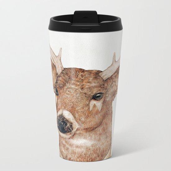 White Tailed Deer Metal Travel Mug