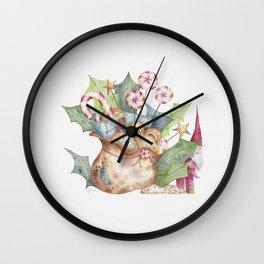 Christmas Gift Bag & Sweets Wall Clock