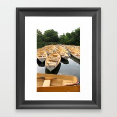 Bois de Boulogne Paris Boats Framed Art Print