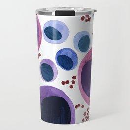 Blood cells inspired illustration Travel Mug