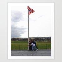 Flag Raise Art Print