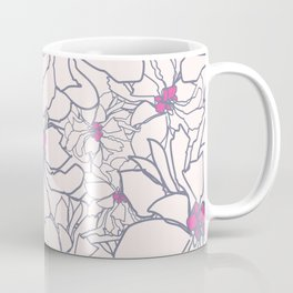 Pink Peony Garden Coffee Mug