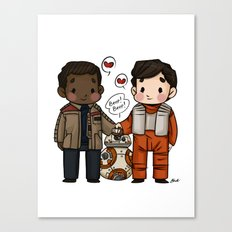 Finn and Poe and their Bay-be Canvas Print