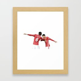 Pogba Lingard - Manchester United - Dab Framed Art Print