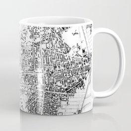 Vintage Map of Cambridge Massachusetts (1877) BW Coffee Mug