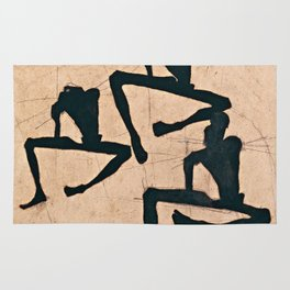Egon Schiele  -  Composition With Three Male Nudes Rug