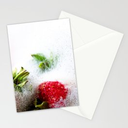 Strawberries in Focus Stationery Cards