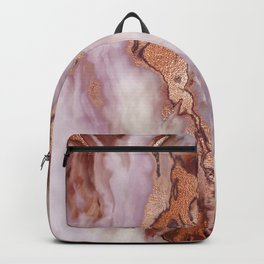 Rose Gold Marble With Pastel Pink Accents Backpack