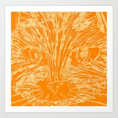 Orange Kitty Art Print