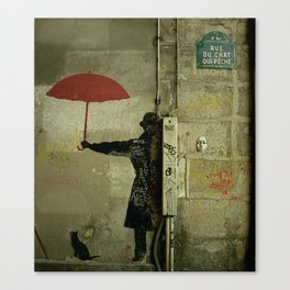 Rue du Chat Qui Peche Canvas Print