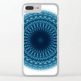 Mandala of Quantum Abundance (blue) Clear iPhone Case
