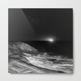 Distant Trawler Metal Print
