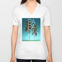 paradise V-neck T-shirts featuring PARADISE by Chrisb Marquez