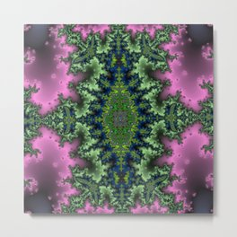 Fractal Rhombus Metal Print