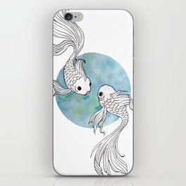 Pisces fish watercolor illustration iPhone Skin