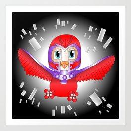 Magneto Bird Art Print