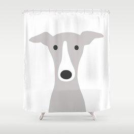 Cute Greyhound / Italian Greyhound Shower Curtain