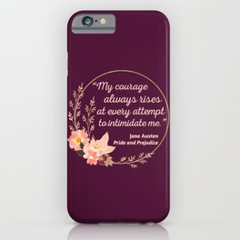 Pride and Prejudice Quote I - Cute Style iPhone Case