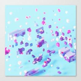 Sky Voxel Canvas Print