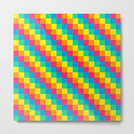 8-bit Pixel Rainbow Metal Print
