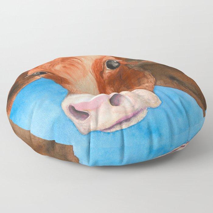 Red Heifer Floor Pillow