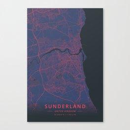 Sunderland, United Kingdom - Neon Canvas Print