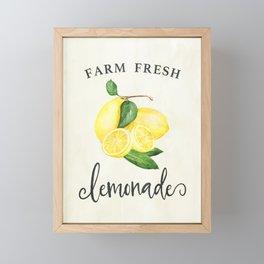Farm Fresh Lemonade Southern Decor Art Print Framed Mini Art Print
