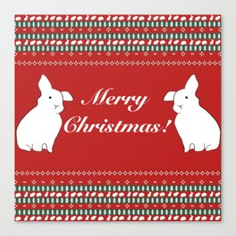 Bunny Christmas Canvas Print