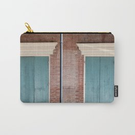 Brick and Blue Carry-All Pouch