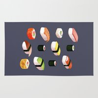 sushi Area & Throw Rugs featuring Sushi by Skrich