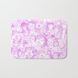Pastel Ahegao Collage Bath Mat