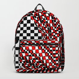 black white red 4 Backpack