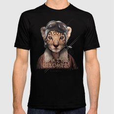 Tiger Black SMALL Mens Fitted Tee