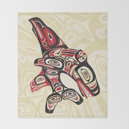 Eagle Fin Killer Whale Throw Blanket