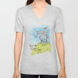 Have the Rhino of your Life Unisex V-Neck