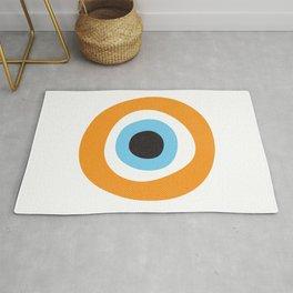 Orange Evil Eye Symbol Rug