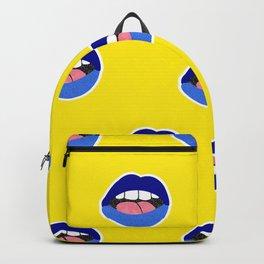 blue lips Backpack