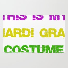 This Is My Mardi Gras Costume Fun Mardi Gras Party Rug