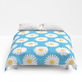 Spring Daisies_Blue Sky Comforters