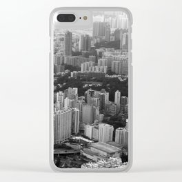 Black and White Hong Kong Clear iPhone Case