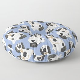Staffordshire Dog Figurines No. 2 in Dusty French Blue Floor Pillow